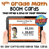 Math Test Prep and Review Digital Task Cards for 4th Grade - BOOM Cards