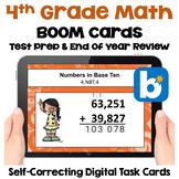 4th Grade Math Digital Task Cards BOOM Cards