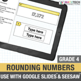 4th Grade Math Distance Learning: Rounding Numbers SeeSaw