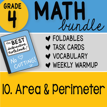Doodle Notes - 4th Grade Math Doodles Bundle 10. Area and Perimeter