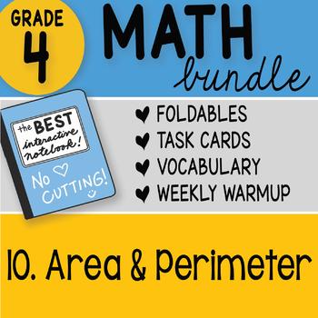 Math Doodle - 4th Grade Math Doodles Bundle 10. Area and Perimeter