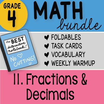Math Doodle - 4th Grade Math Doodles Bundle 11. Fractions and Decimals