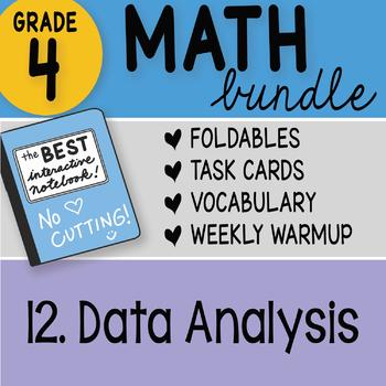 Doodle Notes - 4th Grade Math Doodles Bundle 12. Data Analysis