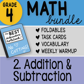 Doodle Notes - 4th Grade Math Doodles Bundle 2. Addition and Subtraction