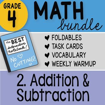 Math Doodle - 4th Grade Math Doodles Bundle 2. Addition and Subtraction