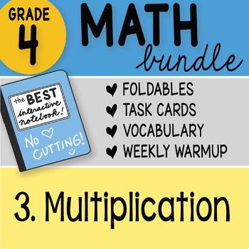 Doodle Notes - 4th Grade Math Doodles Bundle 3. Multiplication