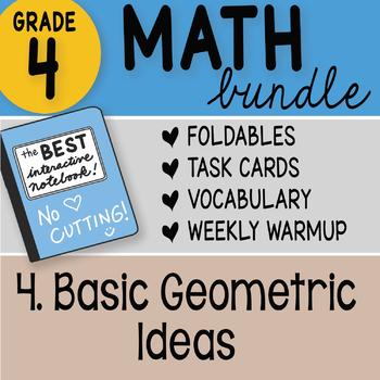 Doodle Notes - 4th Grade Math Doodles Bundle 4. Basic Geometric Ideas