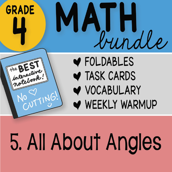 Doodle Notes - 4th Grade Math Doodles Bundle 5. All About Angles