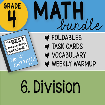 Doodle Notes - 4th Grade Math Doodles Bundle 6. Division