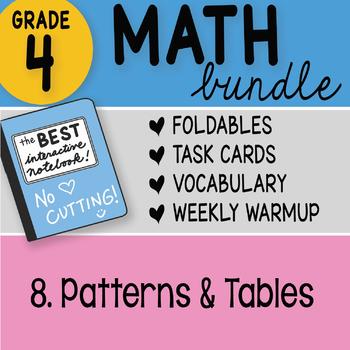 Doodle Notes - 4th Grade Math Doodles Bundle 8. Patterns and Tables