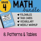 Math Doodle - 4th Grade Math Doodles Bundle 8. Patterns an
