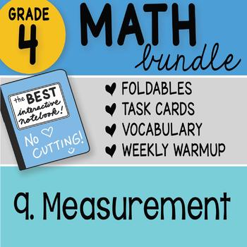 Doodle Notes - 4th Grade Math Doodles Bundle 9. Measurement