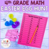4th Grade Math Review Easter Egg Hunt | EDITABLE