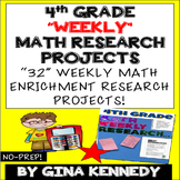 4th Grade Math Enrichment Weekly Research Projects For the Entire Year!