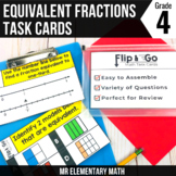 Equivalent Fractions Task Cards 4th Grade Math Centers