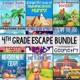 4th Grade Math Escape Bundle