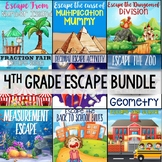 4th Grade Math Escape Bundle