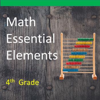4th Grade Math Essential Elements for Cognitive Disabiliti