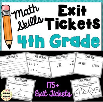 4th Grade Math Exit Slips (Math Skills)