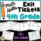 4th Grade Math Exit Tickets: Fourth Grade Math Skills