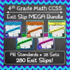4th Grade Math Exit Slips, 4th Grade Math Exit Tickets, 4th Grade MEGA Bundle