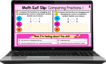 4th Grade Math Exit Slips   All Standards