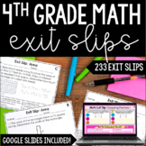 4th Grade Math Exit Slips - with Digital Math Exit Slips - Distance Learning
