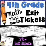 4th Grade Math Exit Tickets: Fourth Grade Math Mega Bundle