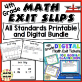 4th Grade Math Exit Slips: Printable and Digital Distance