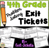 4th Grade Math Exit Slips (Problem Solving)