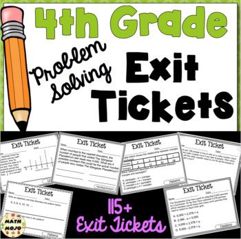 4th Grade Math Exit Slips (Problem Solving)