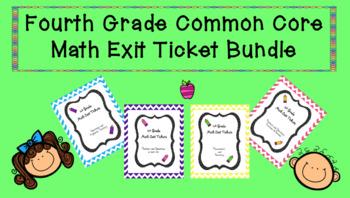 4th Grade Math Exit Ticket Bundle
