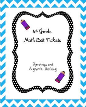 4th Grade Math Exit Ticket - OA