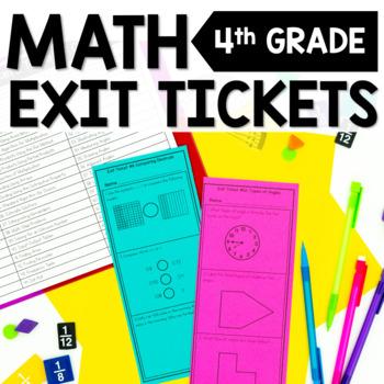 4th Grade Math Exit Tickets