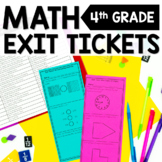 4th Grade Math Exit Tickets