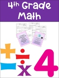 Everyday Math 4th Grade Unit 6 Exit Tickets