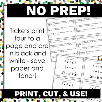 4th Grade Math Exit Tickets Bundle Common Core Aligned No Prep