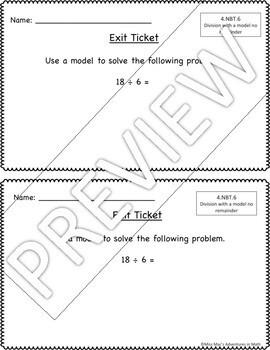 4th Grade Math Exit Tickets - Growing Bundle