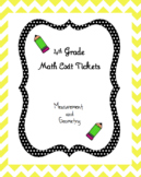 4th Grade Math Exit Tickets - Measurement & Geometry