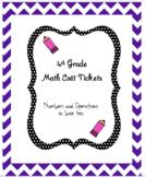 4th Grade Math Exit Tickets - NBT