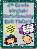 4th Grade Math Exit Tickets - Virginia Standards