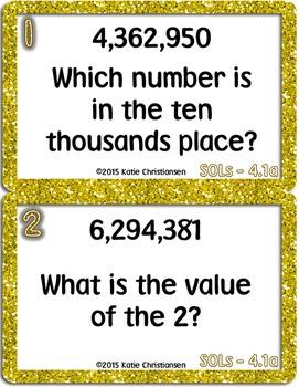 4th Grade Math Exit Tickets - Virginia Standards