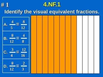 4th Grade Math - Explain why a fraction is equivalent to a fraction 4.NF.A.1