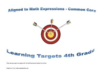 4th Grade Math Expressions Learning Targets