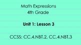 4th Grade Math Expressions Unit 1: Lesson 3