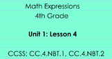 4th Grade Math Expressions Unit 1: Lesson 4