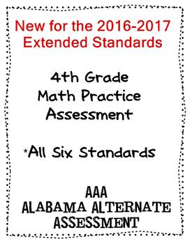 4th Grade Math Extended Standards Practice Test Alabama Alternate Assessment