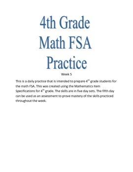 4th Grade Math FSA Practice Week 5