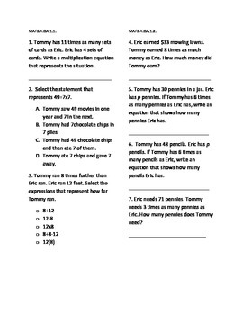 4th Grade Math FSA Practice Week 1
