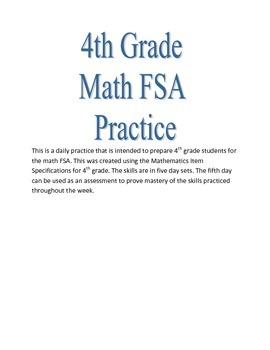4th Grade Math FSA Practice Week 4